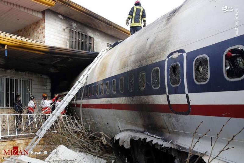عکس/ سقوط هواپیما بوئینگ 707 در صفادشت