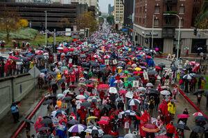 عکس/ اعتصاب هزاران معلمان در آمریکا