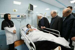 فیلم/ افتتاح اورژانس ۱۵۲ تختخوابی توسط روحانی