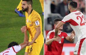 عکس/حرکت جوانمردانه بازیکنان استرالیا و اردن