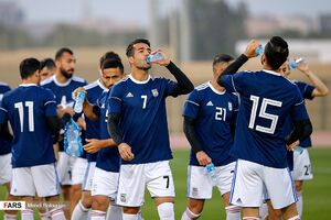 آخرین تمرین تیم ملی فوتبال قبل از بازی با عراق