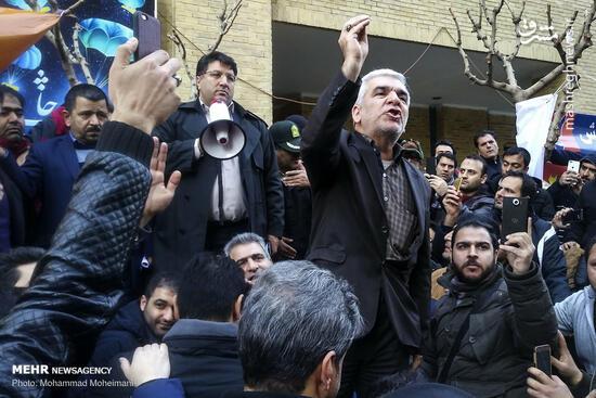 عکس/ تجمع مشتریان خودروسازان مقابل وزارت صمت