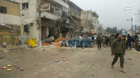 عکس/ انفجار مرگبار در منبج سوریه