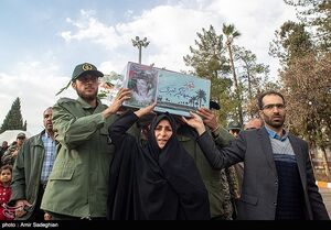 عکس/ استقبال از سه شهید تازه تفحص شده در شیراز