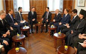 دیدار و گفتگوی بشار اسد با یک هیئت روس