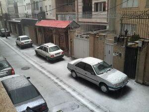 بارش تگرگ تهران را غافلگیر کرد+عکس