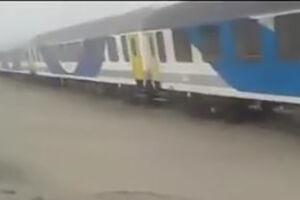 فیلم/ خروج قطار مسافربری تهران به زاهدان از ریل!