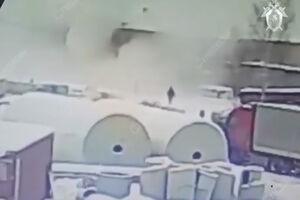 فیلم/ لحظه انفجار در یک کارخانه شیمیایی!