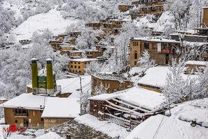 فیلم/ بارش برف بهاری در ماسوله