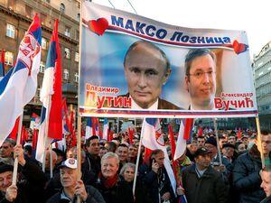 عکس/  استقبال باشکوه از پوتین در صربستان