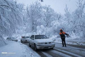 عکس/ جادههای برفی گلستان