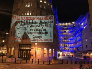 کار خوب فعالان حقوق بشر در انگلیس برای مرضیه هاشمی +عکس