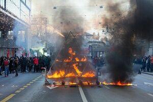 برپایی راهپیمایی اعتراض آمیز علیه اجلاس داووس در سوئیس
