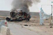 عکس/ انفجار در مسیر نیروهای آمریکایی در سوریه