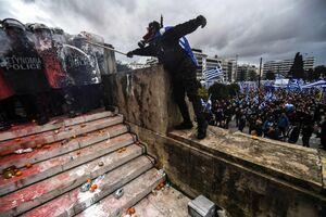 عکس/ تظاهرات در یونان به خشونت کشیده شد