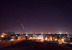 فیلم/ دفع حملات موشکی اسرائیل در آسمان دمشق