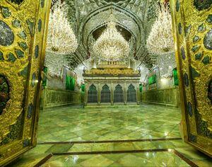 عکس/ پایان سنگفرش حرم امامین کاظمین
