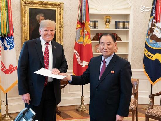 عکس/ دیدار مقام ارشد کره شمالی با ترامپ