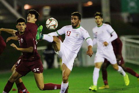 پیروزی تیم 10 نفره امید ایران مقابل قطر