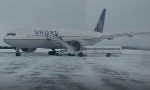 مسافران پرواز آمریکایی ۱۴ ساعت در دمای زیر صفر گرفتار شدند