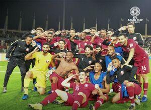 عکس/ سلام نظامی قطریها پس از شکست عراق