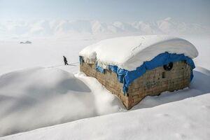 بارش برف سنگین در «حکاری» ترکیه