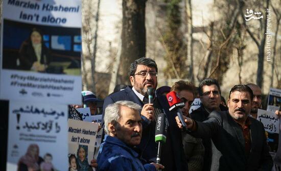 تجمع اعتراضی علیه بازداشت غیرقانونی مرضیه هاشمی +عکس