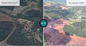 تصویر «قبل و بعد» از شکستن سد در برزیل