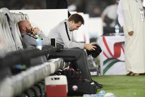 عکس/ گریه مربیان اسپانیایی قطر پس از صعود