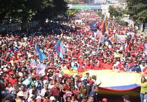 حامیان رئیس جمهوری ونزوئلا به خیابانها سرازیر شدند