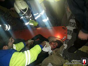 عکس/ تصادف زنجیرهای خونین سه خودرو در تهران
