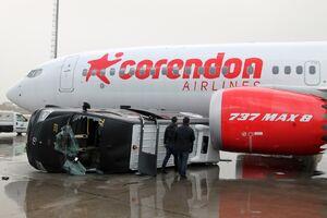 عکس/ گردباد ویرانگر در فرودگاه آنتالیا