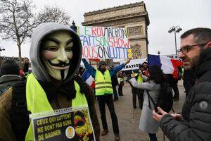 عکس/ ادامه تظاهرات «جلیقه زردها» در فرانسه