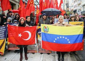 عکس/ تظاهرات مردم ترکیه در حمایت از مادورو