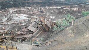 فیلم/ لحظه مرگبار شکستن سد در برزیل!