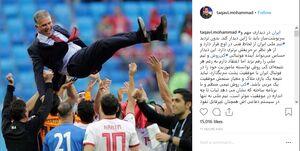 پست محمد تقوی در حمایت از کی روش +عکس