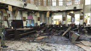 عکس/ دو بمبگذاری پیاپی مرگبار در فیلیپین