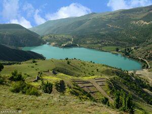 عکس/ دریاچهای زیبا در ارتفاعات مرزنآباد