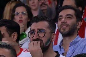 عکس/ استرس شدید هوادار ایرانی در ورزشگاه بن زاید
