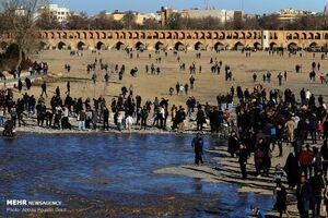 عکس/جاری شدن آب در زایندهرود