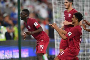 عکس/ دیدار تیم های فوتبال امارات و قطر