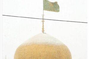 عکس/ گنبد امام رضا (ع) در یک روز برفی