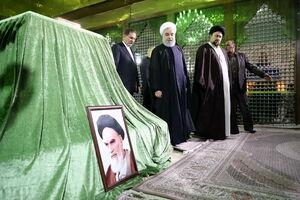 عکس/ حضور اعضای هیات دولت در مرقد امام (ره)