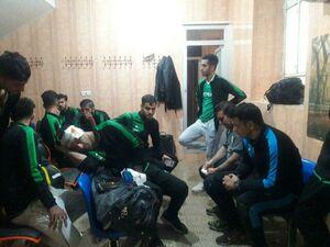 عکس/ چاقوکشی در لیگ دسته دو