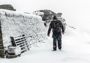 عکس/ بارش سنگین برف در انگلیس