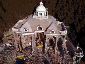 عکس/ تخریب یک کاخ غیرمجاز