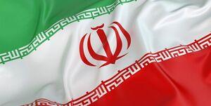 تلاش برای زمین نیفتادن پرچم ایران +عکس