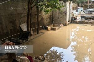 عکس/ خسارات طغیان رودخانه ها در لرستان