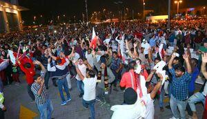 عکس/ جشن و پایکوبی شبانه قطری ها