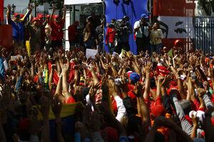 فیلم/ اجتماع هزاران نفری طرفداران مادورو